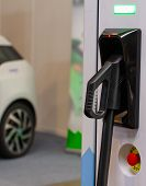 A Modern Electrical Fast Charger For The Electrical Or Hybrid Phev Automobiles. An Energy Power Of F poster
