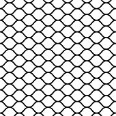 Seamless Mesh Netting With Curved Wavy Lines Bars Vector Grid Netting For Sports Ball Games poster