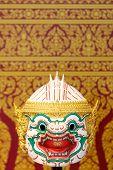 stock photo of hanuman  - Thai style white monkey mask - JPG