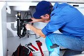 stock photo of sanitation  - Professional plumber - JPG