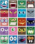 picture of bigfoot  - Set of 20 square avatars - JPG