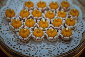 Elegantly Beautiful Thai Desserts (khanom Wan Thai) Serving In A Bamboo Basket Hand Made, The Bites  poster