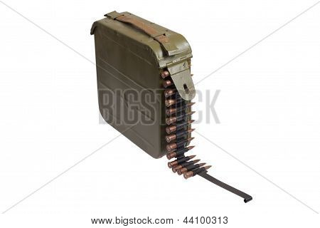 Ammo Bullet Case With Chain Of Ammo