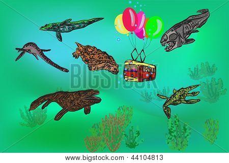 train under water