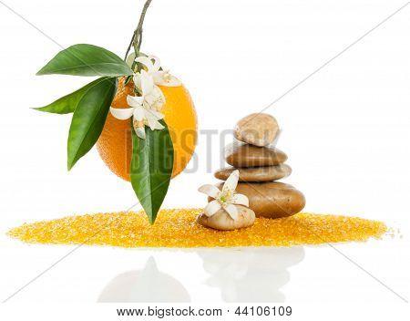 Spa Stones And Orange