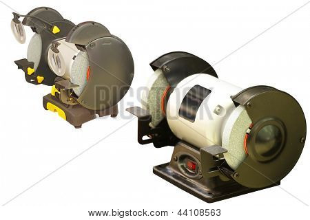 The image of grinding machine under thew white background