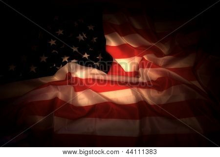 Usa Flag In The Dark