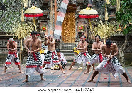 Traditional Ritual Kris Dance Show On Bali