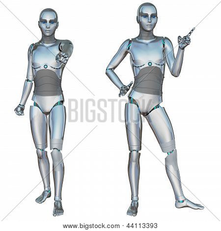 Robot Android Male