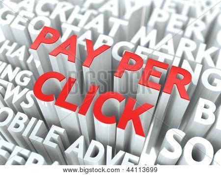 Pay-Per-Click (PPC) conceito.