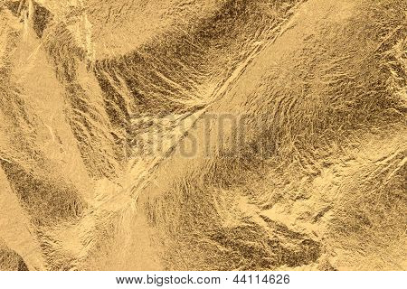 Wrinkly Golden Leaf Background