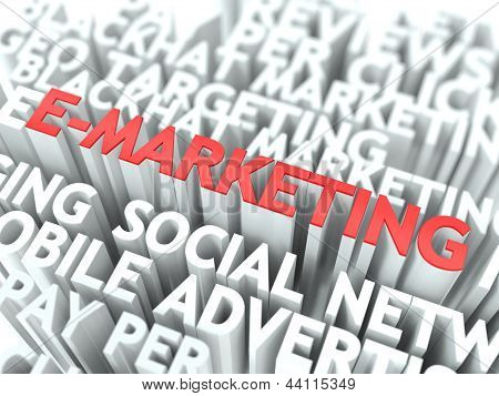 E-Marketing Concept.