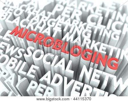 Microbloging Concept.