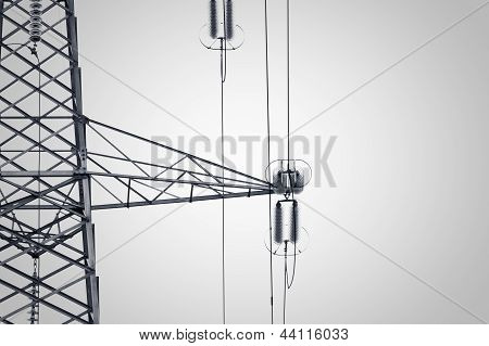 Detail Of An Electricity Pylon
