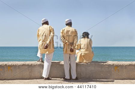 Three Hindu Clerics Waitng Time Pass