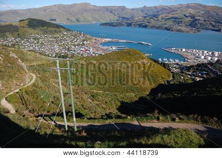 Lyttelton Town Harbor Hill View