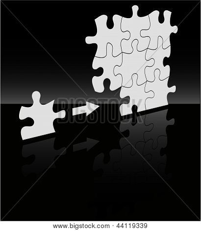 The Vector Abstract Puzzle Background