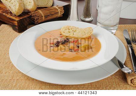 Creamy Gouda Bisque With Chicken