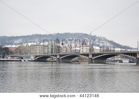 View Of The Vltava River In Prague