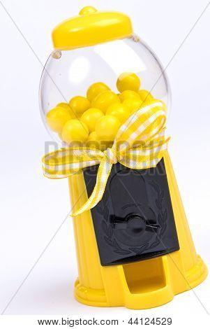 Yellow Gumball Machine