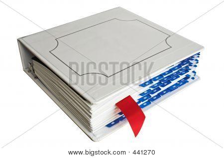 Binder With Bookmark