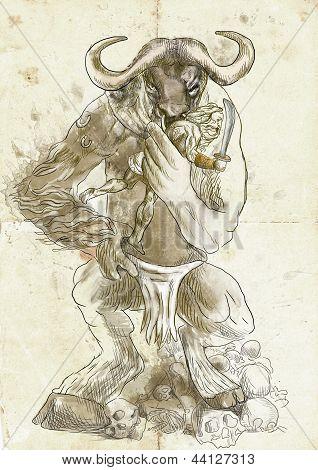 Minotauro e Teseu