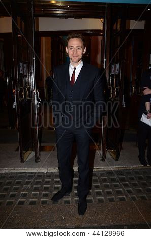 Tom Hiddleston At The Press Night Of The Curious Incident Of The Dog In The Night 12Th March 2013