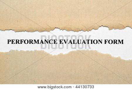 Avaliação de desempenho