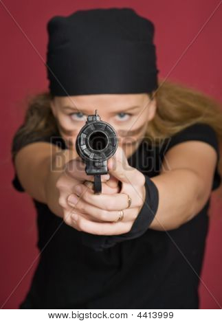 Aggressive Girl-pirate