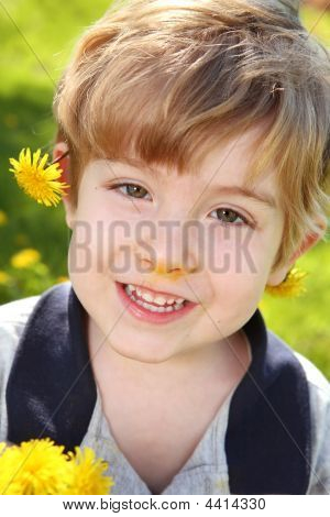 Boy With Dandelions