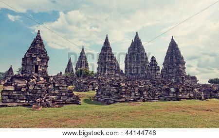 Prambanan temple. Java island, Indonesia