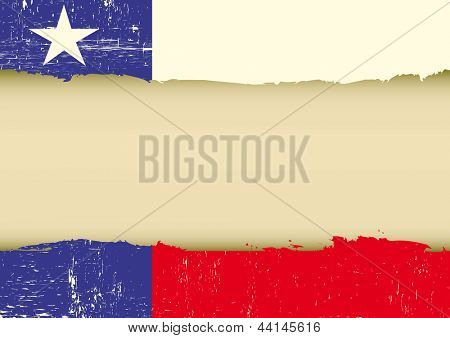 Lone Star Flag scratched flag. A texas flag with a large frame for your message