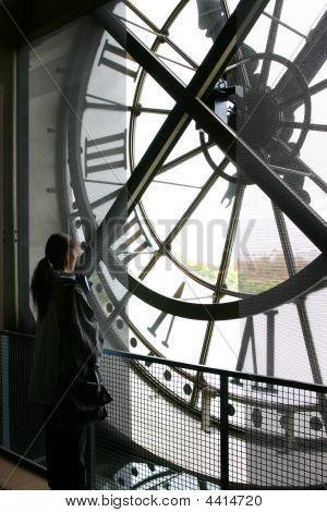 Clock At Musee Orsay Museum