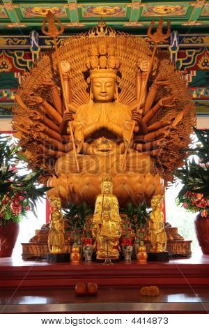 Thousand Hand Buddha Images.