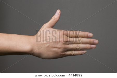 Hand Reach Out Friendly Gesture