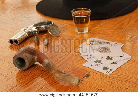 Dead man's hand, believed to be the hand held by Wild Bill Hickok when he was assassinated