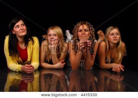 Four Girls Posing.