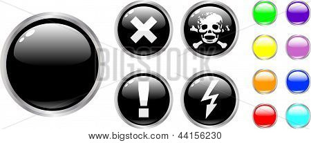 The Vector Danger Color Buttons
