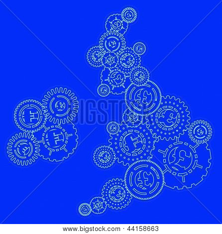 UK and Ireland Money Cogs