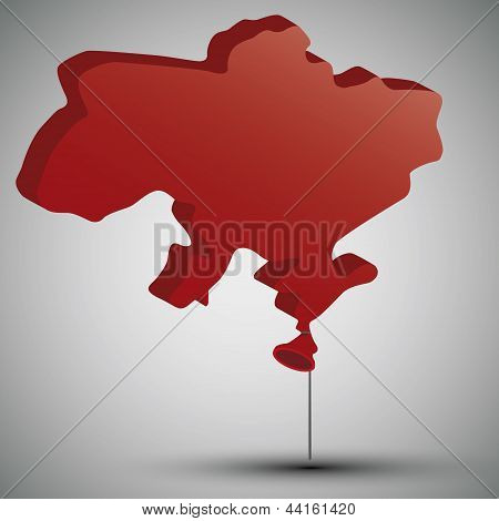 map of Ukraine in form of a balloon