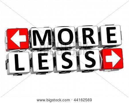 3D More Less Button Click Here Block Text