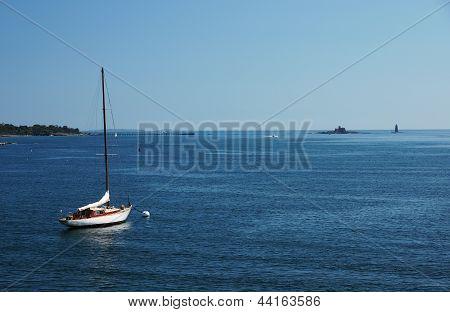 Moored Sail Boat