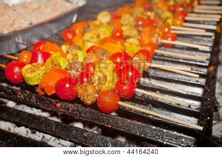 Vegetable Barbecue On Grill