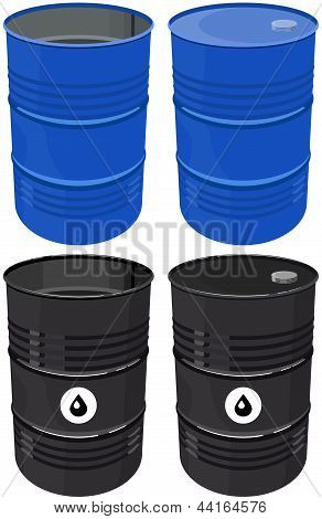 Set full barrel oil isolated
