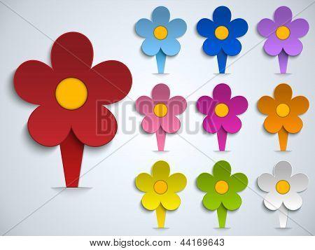 Flower Spring Pin Sticker Icon