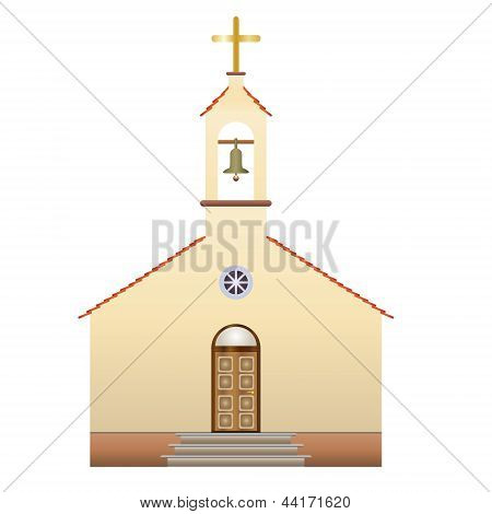 Church With A Cross And Bell