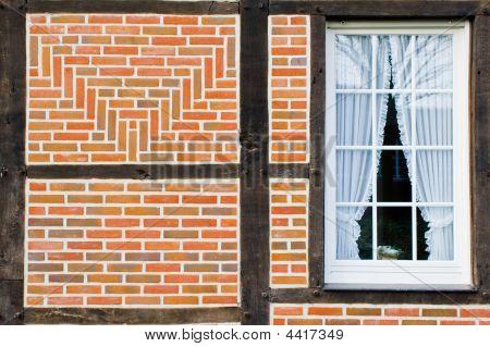 Brick Wall And Window