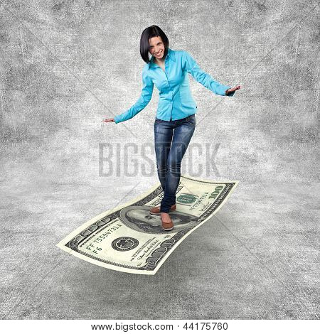 Girl On A Money
