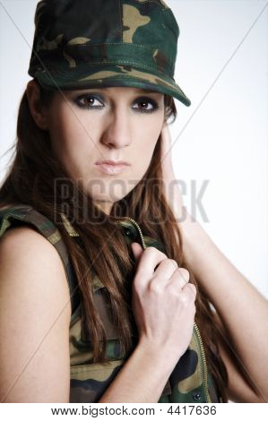 Beautiful Army Girl