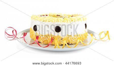 Tasty cake, isolated on white